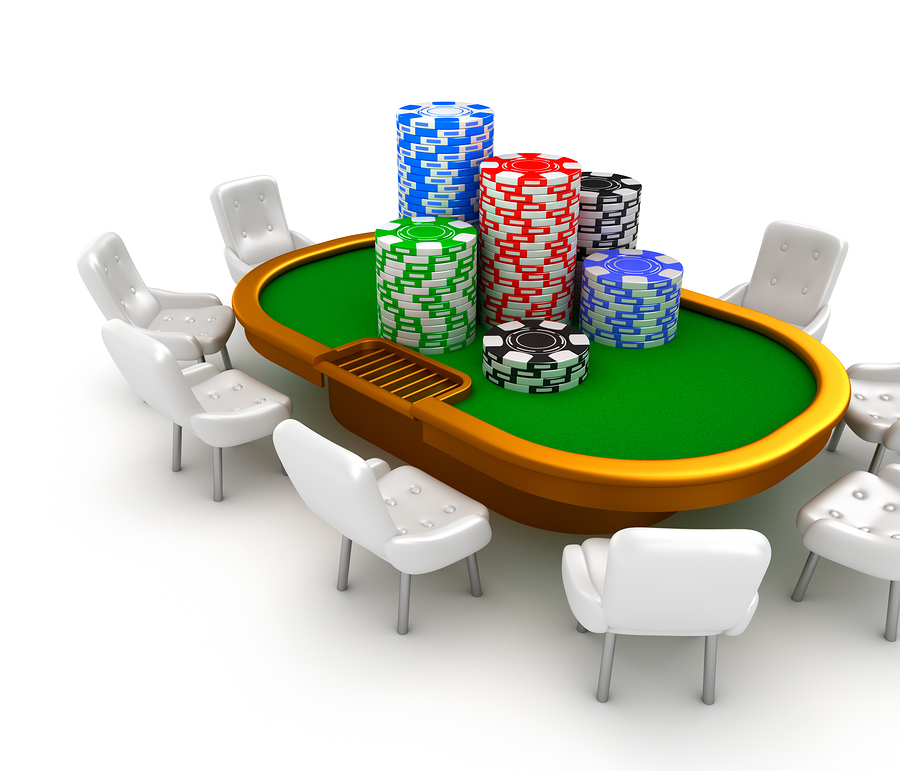 bigstock Gambling poker table with chai 40943983 Casinoturneringar